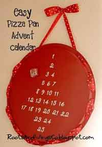 Easy Pizza Pan Advent Calendar
