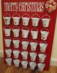 Dollar Store Pails Advent Calendar