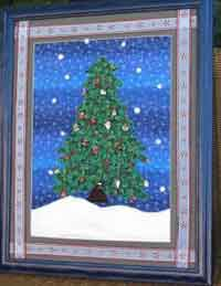 Framed Christmas Tree Advent Calendar