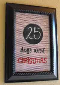 Christmas Countdown Frame Tutorial