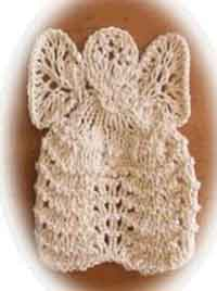 Knitted Angel Washcloth