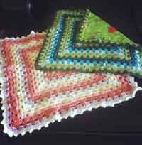 Lined Granny Square Baby Blanket