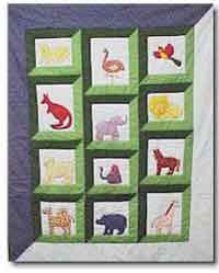 Day at the Zoo Baby Quilt