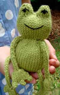 Knitted Frog Toy Pattern