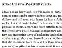 Creative Wax Tarts