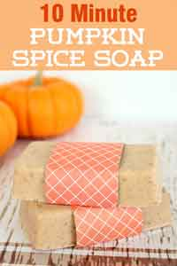 Easy DIY Pumpkin Spice Soap