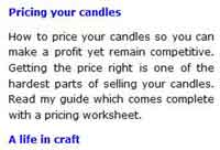 Candlemaking Business Resources