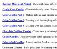 Free Candle Making Project Instructions