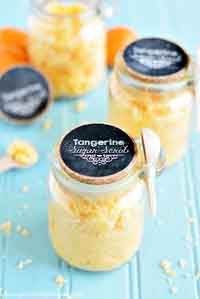 Coconut Tangerine Sugar Scrub + Printable Tags
