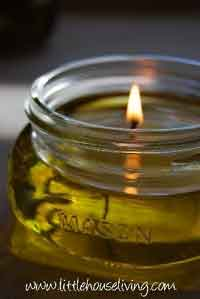 How to Make Olive Oil Candles