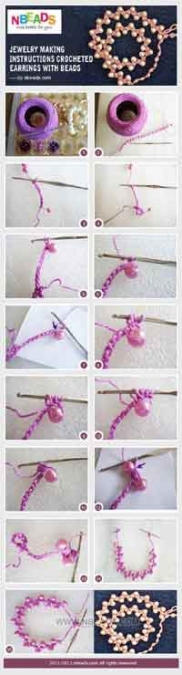 Over 100 free crochet earring projects tutorials and patterns at crocheted earrings with beads ccuart Gallery