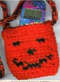 Jack-O-Lantern Cell Phone Bag Pattern