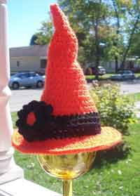 Crochet Pattern For Baby Witch Hat : Over 50 Free Halloween Crochet Patterns at AllCrafts!