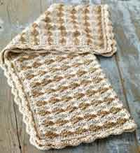 Shell Stitch Baby Blanket
