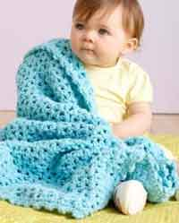 Sea Blue Baby Afghan