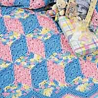 Baby Blocks Crochet Afghan Pattern