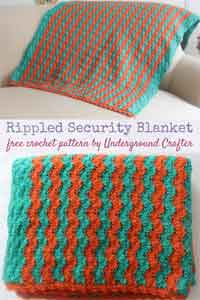 Rippled Security Blanket Crochet Pattern