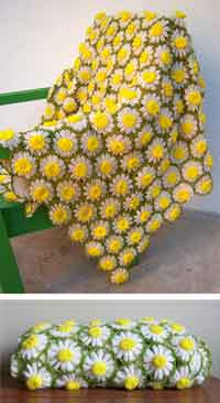 Over 200 free crocheted afghan patterns at allcrafts vintage daisy motif crochet pattern ccuart Image collections