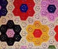 Over 200 free crocheted afghan patterns at allcrafts grandmothers flower garden afghan ccuart Image collections