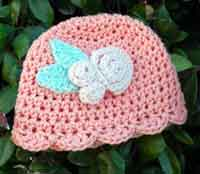 Over 100 Free Crocheted Baby Hat Patterns at AllCrafts.net d9e2ac574c4