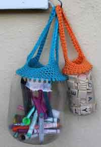 Recycled Crochet Totes Tutorial