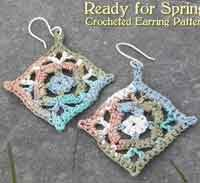 Ready for Spring Crocheted Earrings