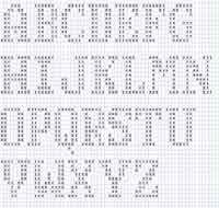 Filet Crochet - Alphabet, Numbers & Christmas Design