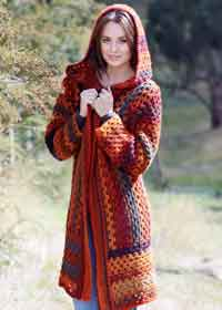 Bouvardia Hooded Jacket Crochet Pattern