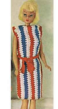 Striped Shift Doll Pattern