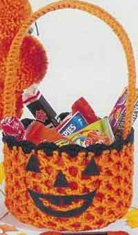 Crochet Pumpkin Basket