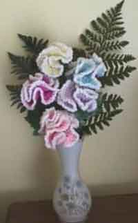Crocheted Carnations