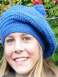 Crocheted DROPS Beret