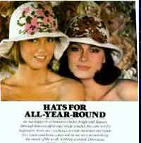 Floppy Brimmed Rose Hats
