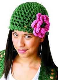 Peek-a-Boo Flower Hat