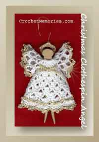 Christmas Clothespin Angel