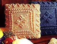 Over 100 free crocheted pillow patterns at allcrafts free crochet popcorn pillows dt1010fo
