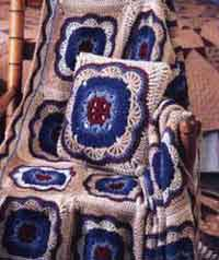 Over 100 free crocheted pillow patterns at allcrafts free moroccan tile pillow ccuart Gallery
