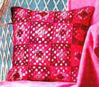 Granny Squares Pillow Case in Muskat