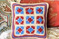 Granny Square Crochet Pillows