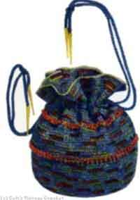 Iridescent and Blue Bag with Beads