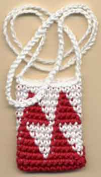 Tapestry Crochet Necklace Pouch