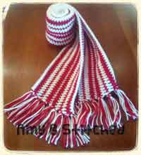 Peppermint Stripes Hat and Scarf