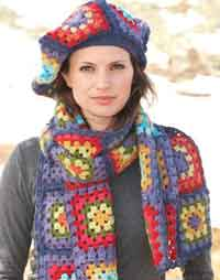 Colorful Squares Scarf