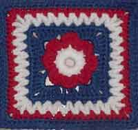 7 inch Freedom Flower Square