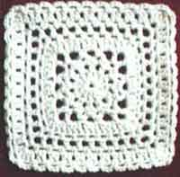 8 inch Lace Medallion Square