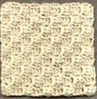 Diagonal Block Stitch Square