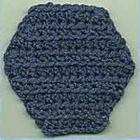Half Double Crochet Hexagon