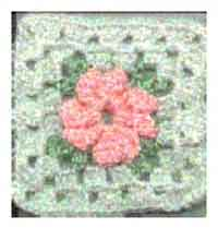 5 1/4 inch Soft Flower Square
