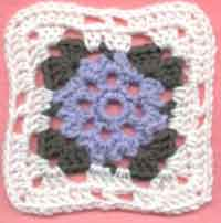 5 inch Little Flower Square