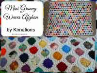 Mini Granny Waves Afghan Crochet Pattern
